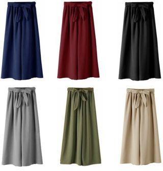 🔥Crazy sales🔥 Simple Bowknot Loose Wide Leg Long Pants Women Slacks Pant Palazo