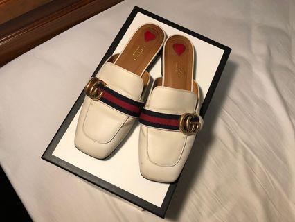 (已加鞋墊)Gucci 樂福鞋 拖鞋 懶人拖 懶人鞋 穆勒鞋 皮鞋
