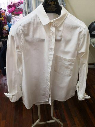 Mango White Shirt