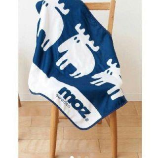 MOZ麋鹿藏青色羊羔绒休閒毯 蓋毯 空調毯 冷氣毯 午睡毯 懶人毯 小毛毯
