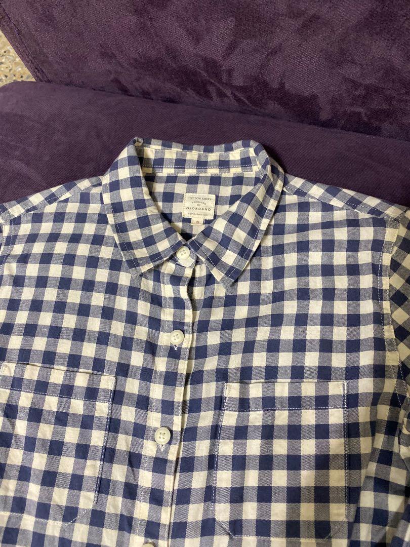 藍白格紋襯衫
