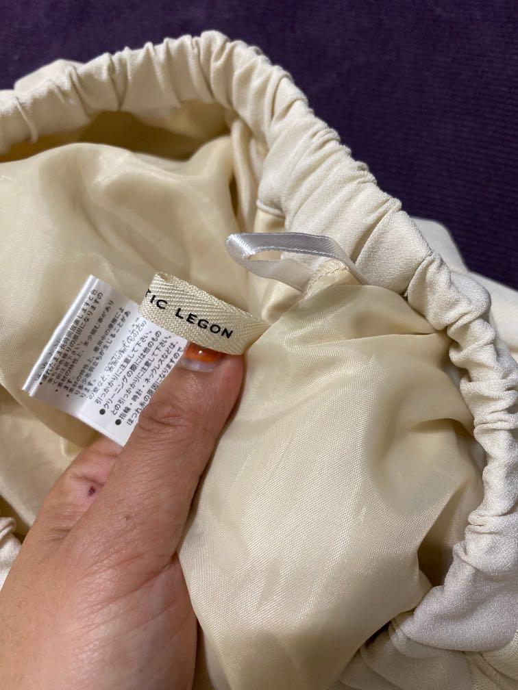 米黃色雪紡裙