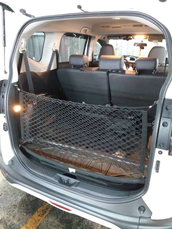 車用後車行李網雙層網