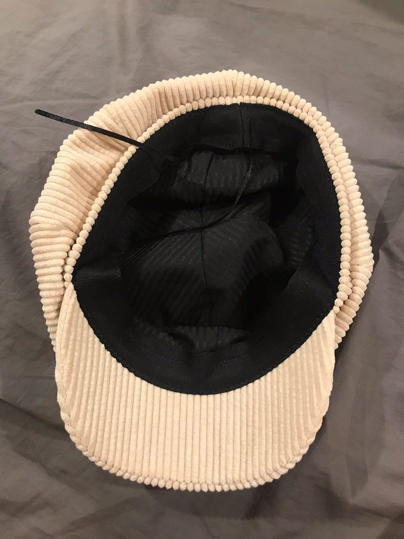 貝蕾帽  米白