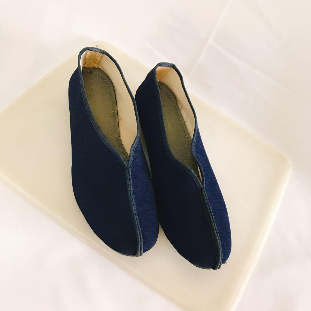 氣質 中國風女包鞋 女功夫鞋