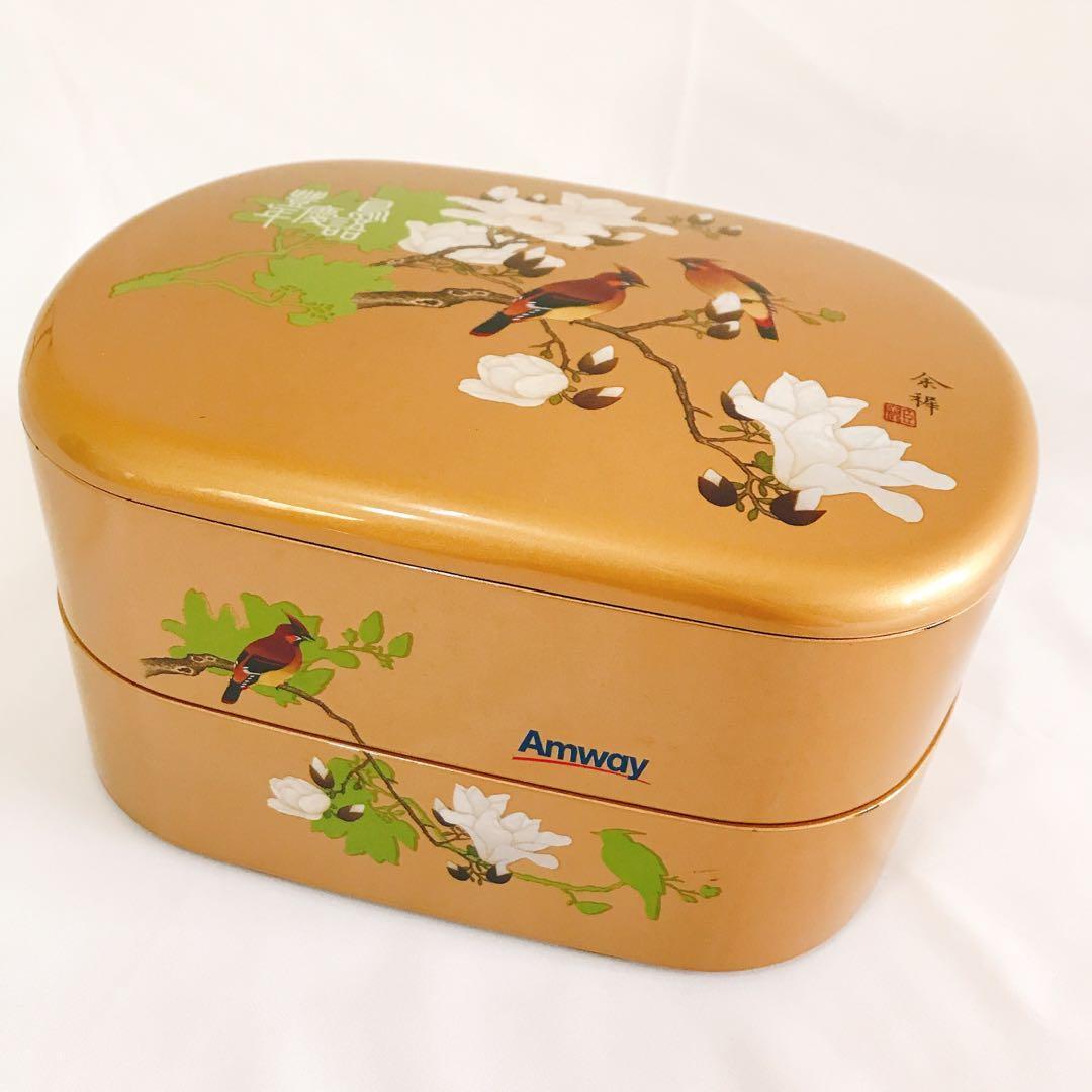 安麗 限量國畫過年糖果盒 2層8格