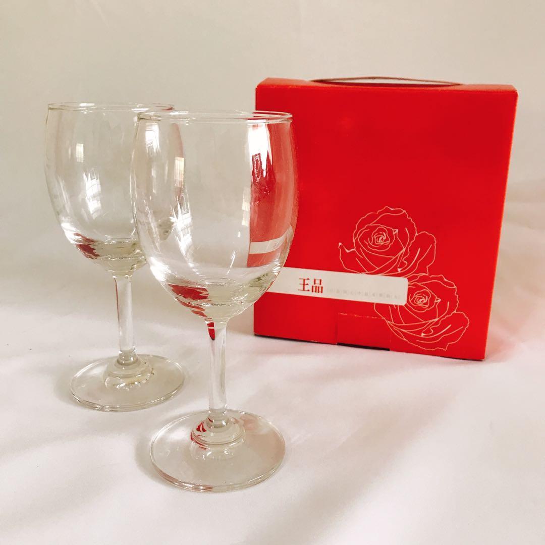 王品 玻璃高腳杯 2只/盒裝
