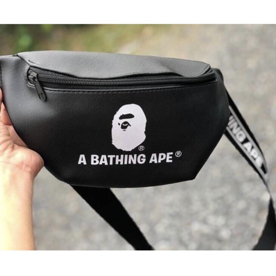 【全新現貨】日本 雜誌附錄 A Bathing APE 潮牌 斜肩包 腰包 男女通用 背包 斜背包 雜誌附錄