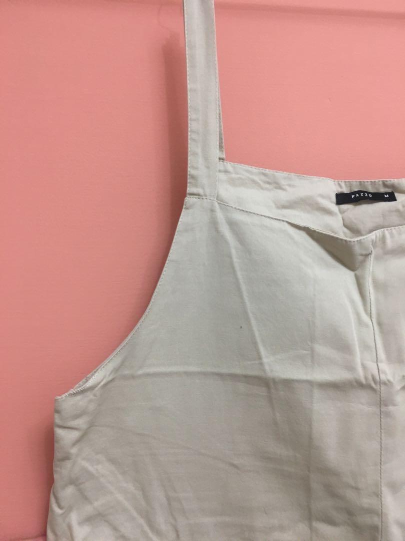 [二手] PaZzO日系 自然系 2019 奶茶 色 森系 米色 杏色 連身裙 卡其 ins 風格 吊帶裙
