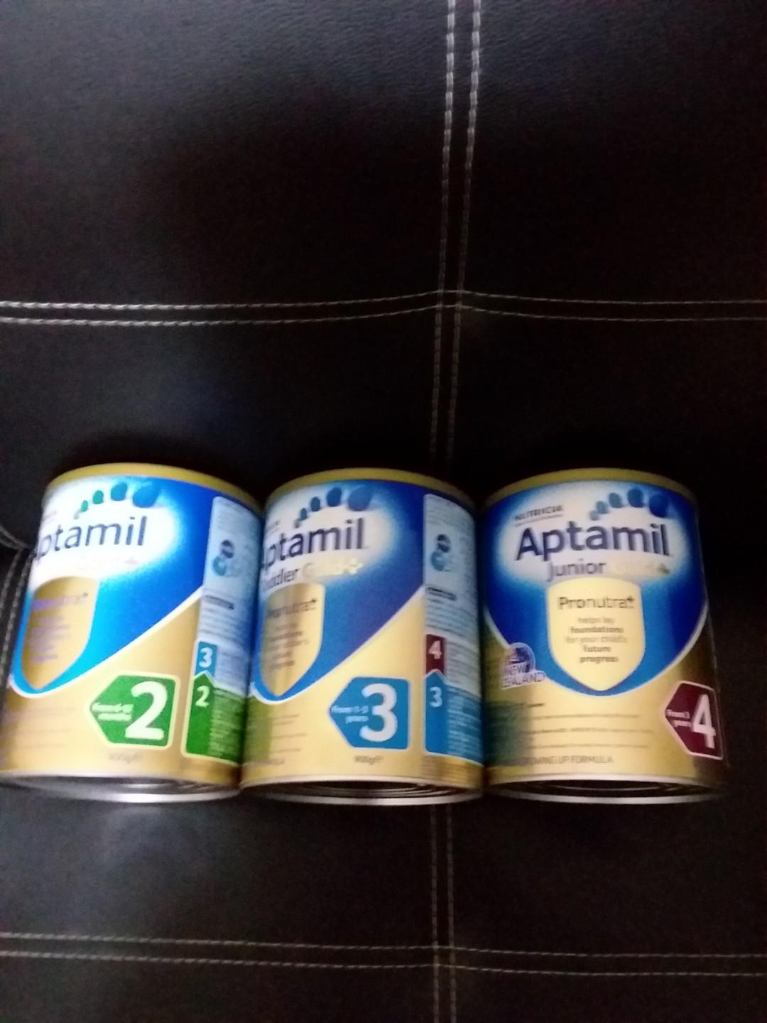 Aptamil stage 2 and stage 3 (no more taken) and stage 4 expires in 2020 each tin $28 can nego
