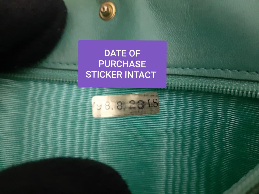 AUTHENTIC CHANEL CAVIAR LEATHER- LARGE ORGANIZER POUCH / WALLET- CC LOGO DESIGN - HOLOGRAM STICKER & DATE OF PURCHASE STICKER INTACT, COMES WITH AUTHENTICITY CARD - RARE TIFFANY COLOR - OVERALL GOOD ! - GOLD HARDWARE-  WITH EXTRA ADD. HOOKS & LONG STRAP