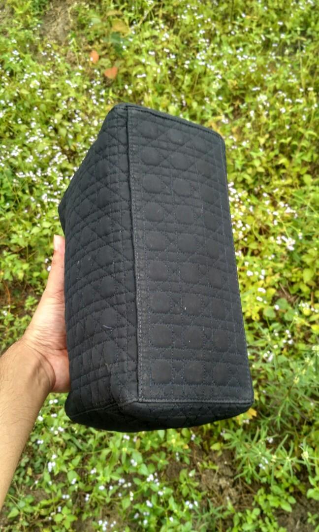 Authentic Christian Dior Lady Dior cannage nylon bag