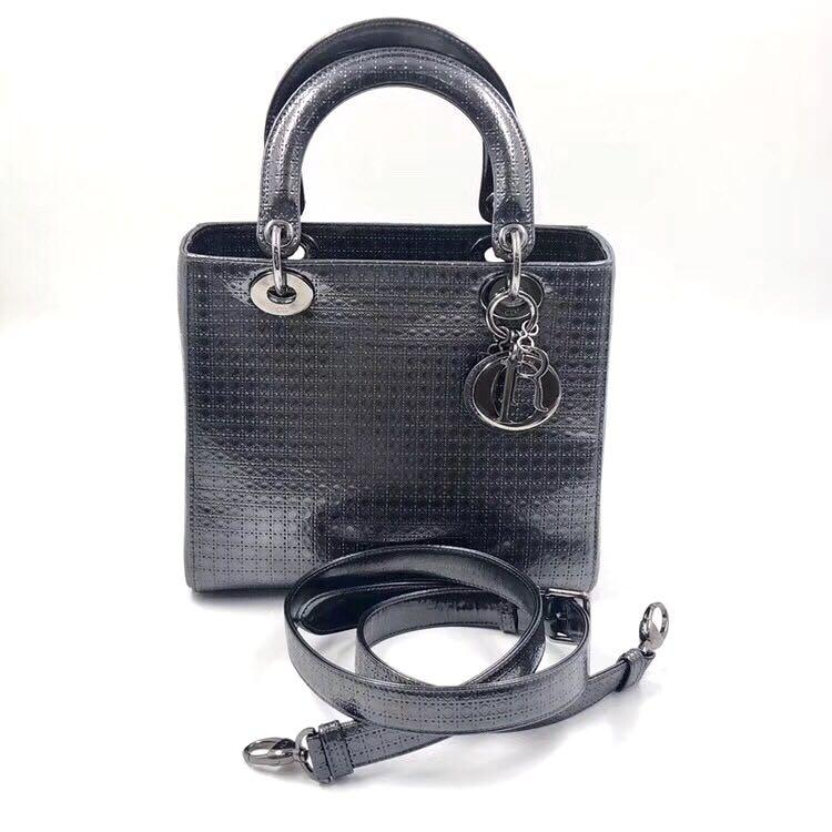 Authentic Pre-loved Christian Dior Medium Lady Dior Micro Cannage