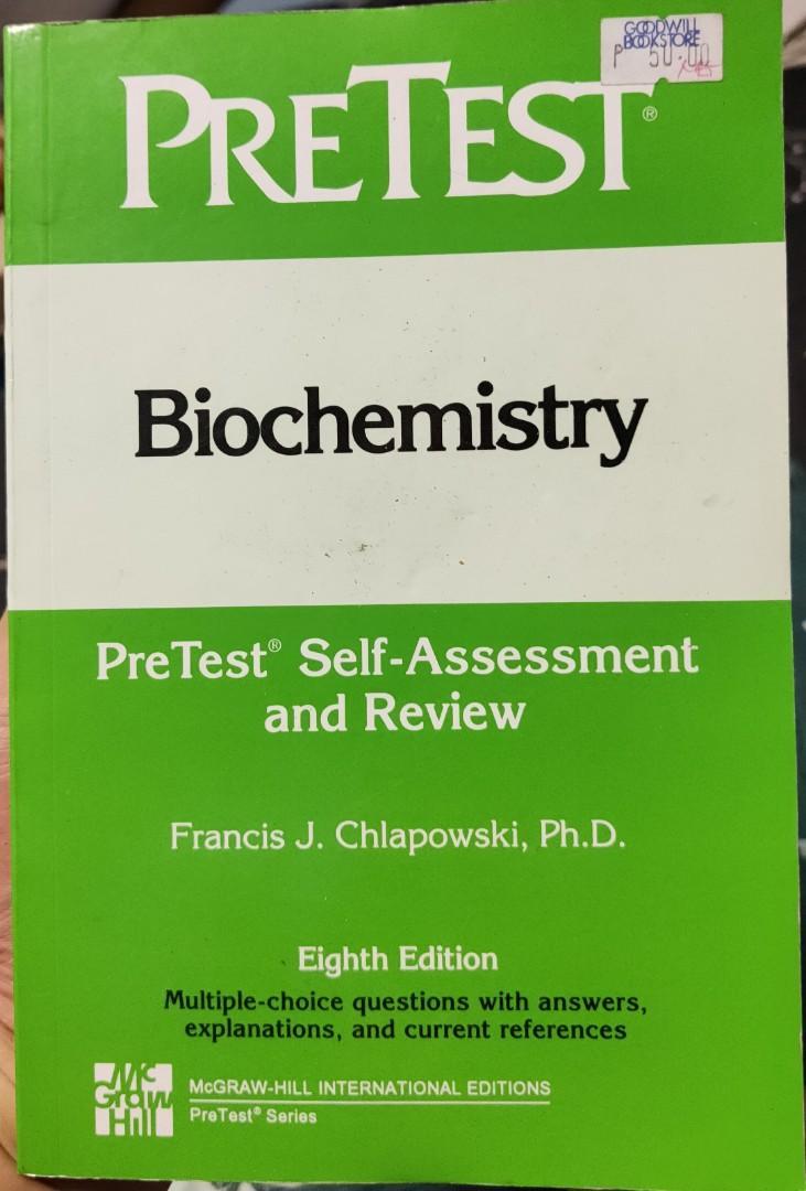 Biochemistry: Pretest Self-Assessment & Review (Pretest Basic Science Series), 8th Ed., by Chlapowski