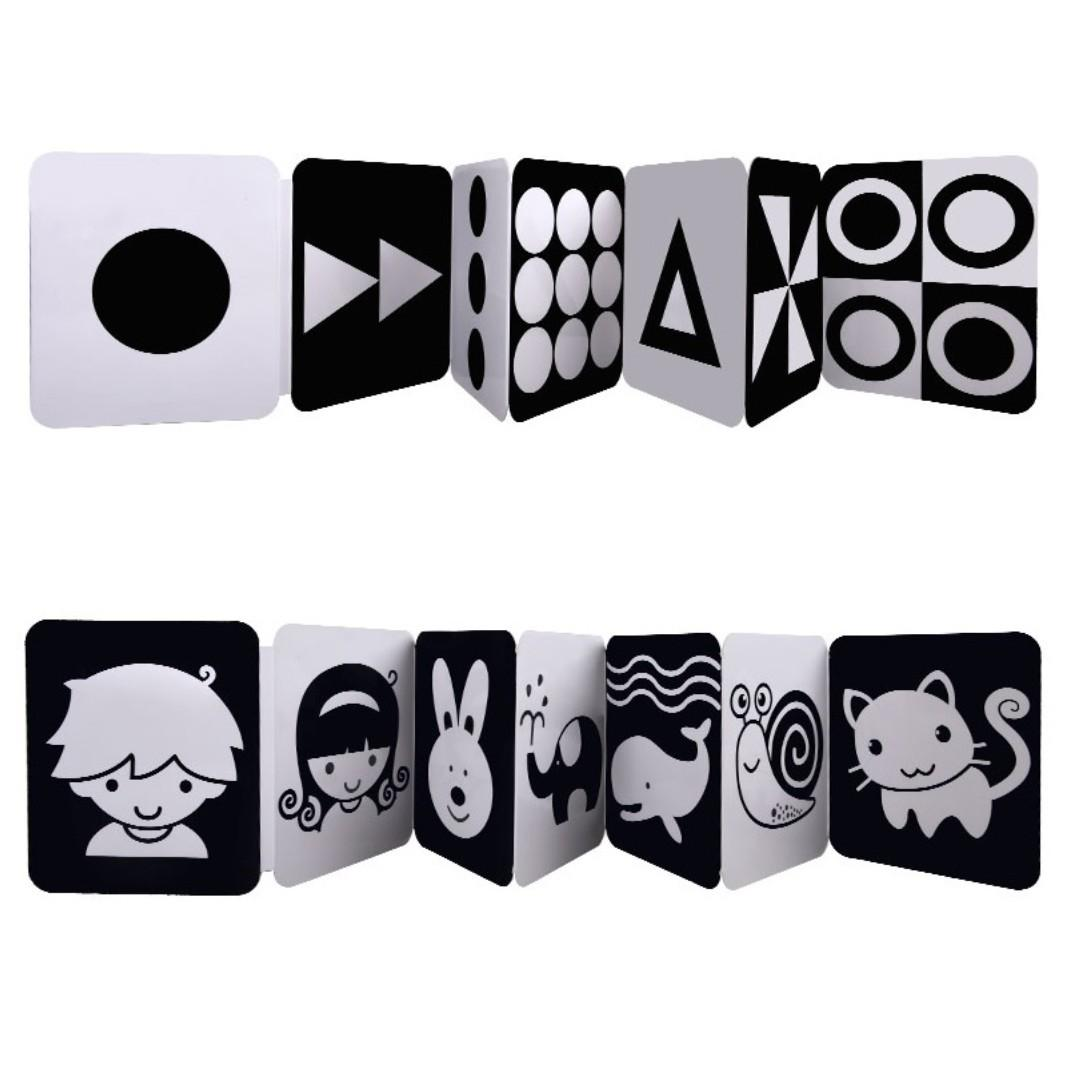 Black And White Flash Cards For Babies Babies Kids Toys Walkers On Carousell