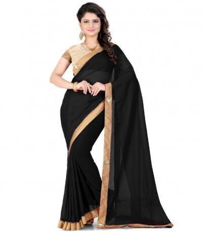 Black Saree for rent/sewa