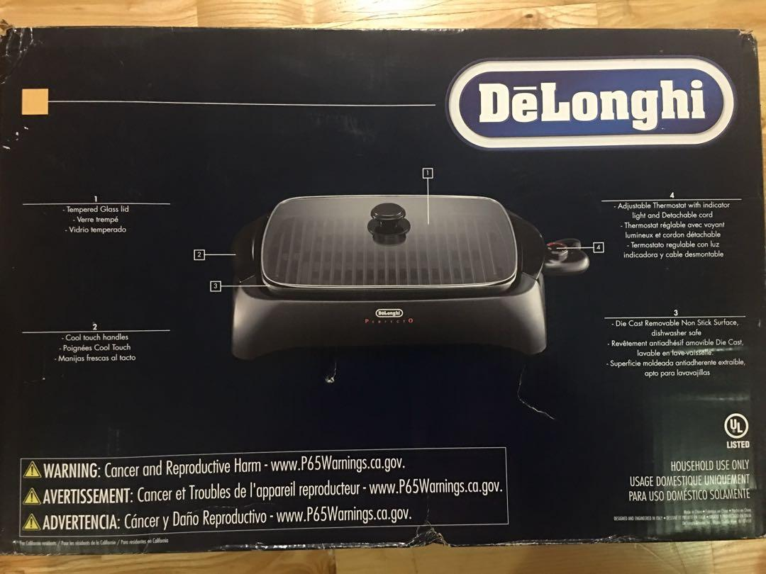 Brand new in packaging DeLonghi PERFECTO die cast indoor grill