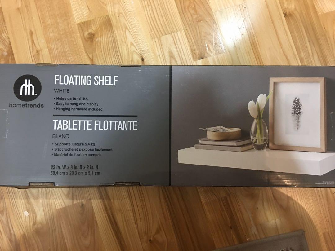 Brand new in packaging hometrends white floating shelf