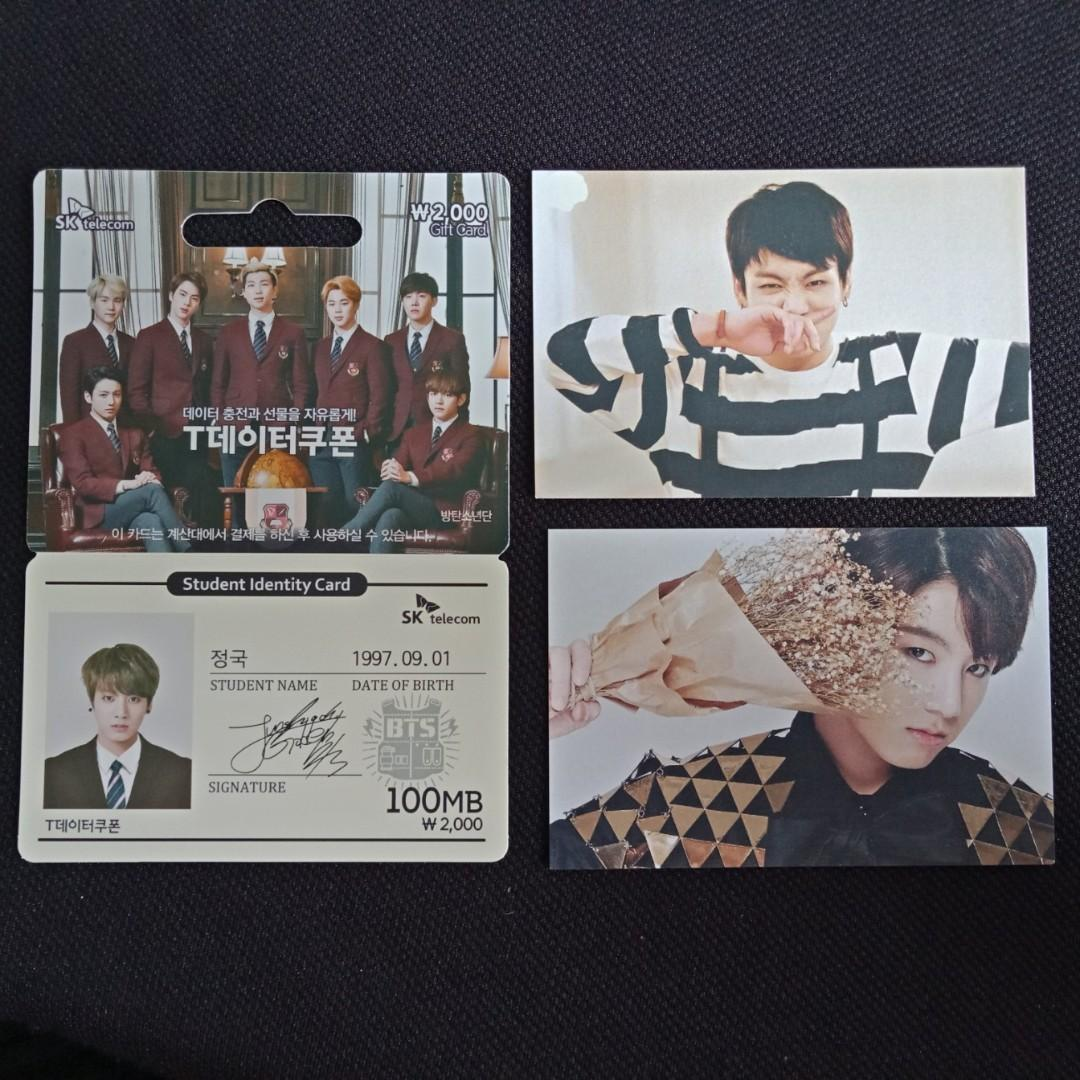 [BTS CLEARANCE SALE] Jungkook Rare Photocards - HYYH On Stage / Epilogue / SK Telecom