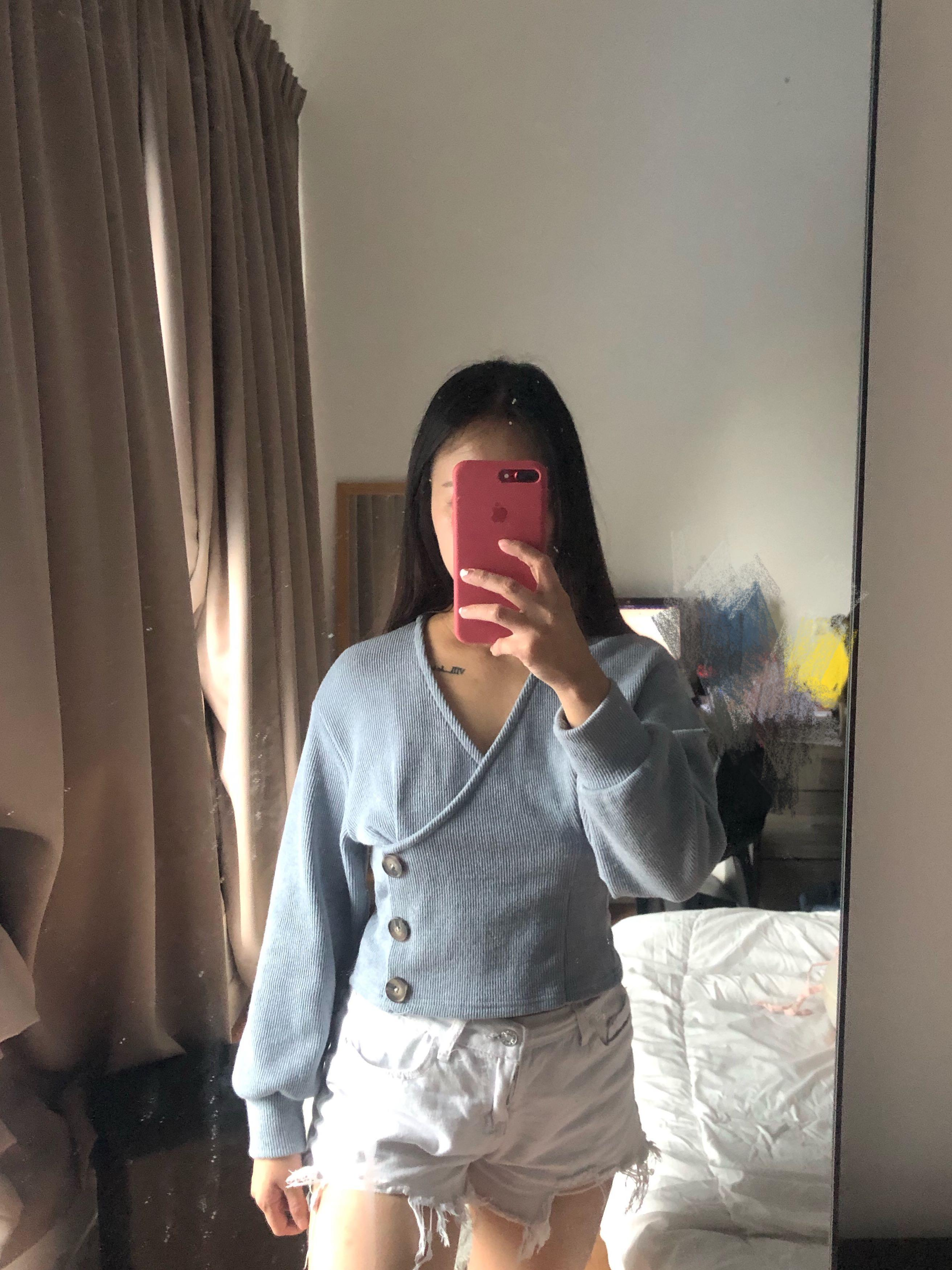 Button style long sleeve
