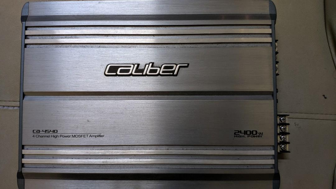Caliber Car Amplifier and Subwoofer