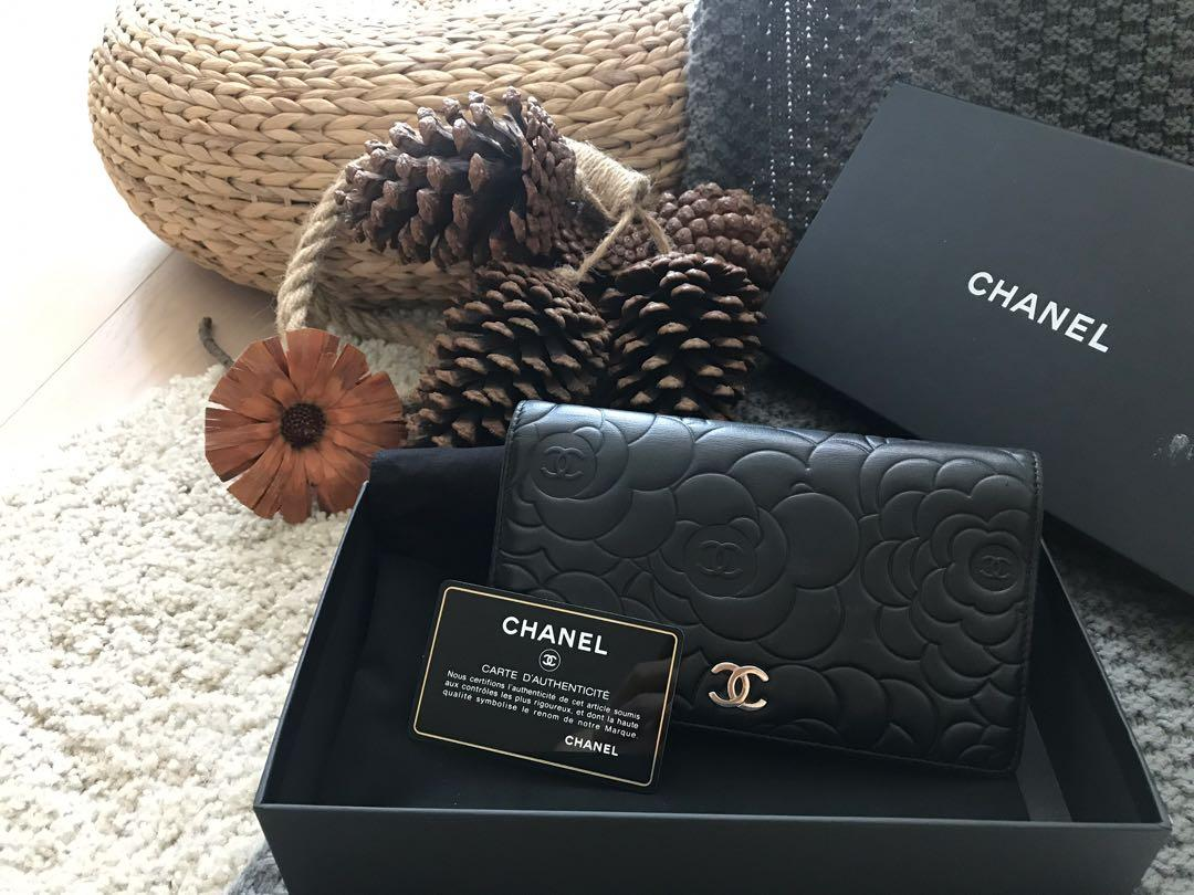 Chanel wallet 山茶花 銀包