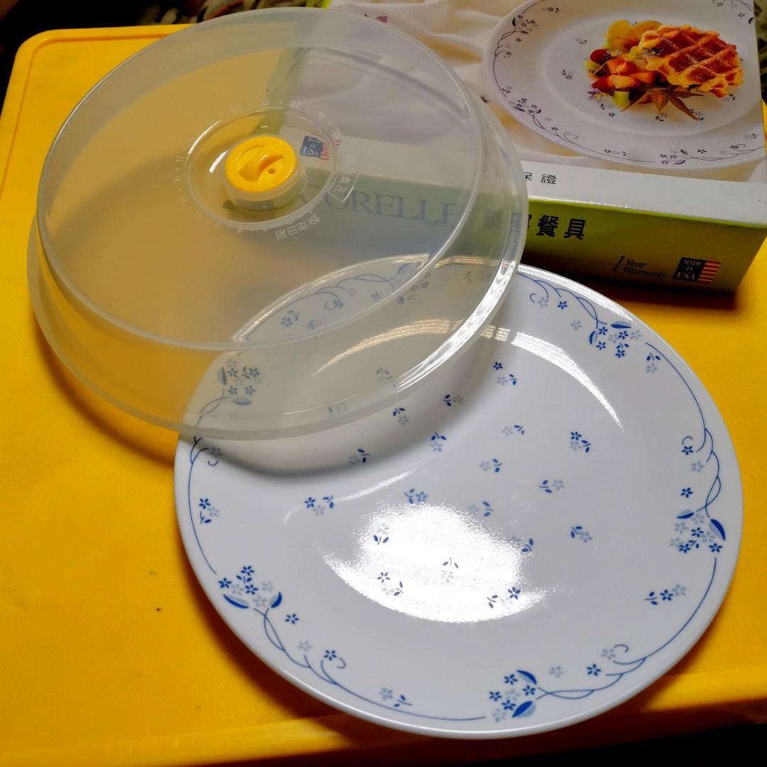 CORELLE 康寧 微波 附蓋 餐具組 / 餐盤 10吋 圓盤/平盤 (二入組) 復古 鄉村 古典藍 花紋