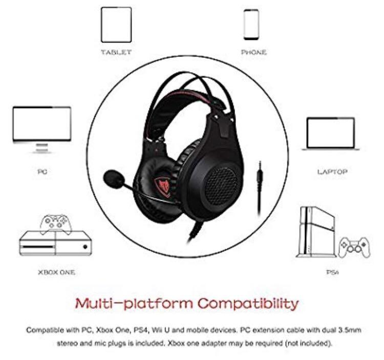 D211 Nubwo N2 Gaming Headset For Xbox One Ps4 Playstation 4