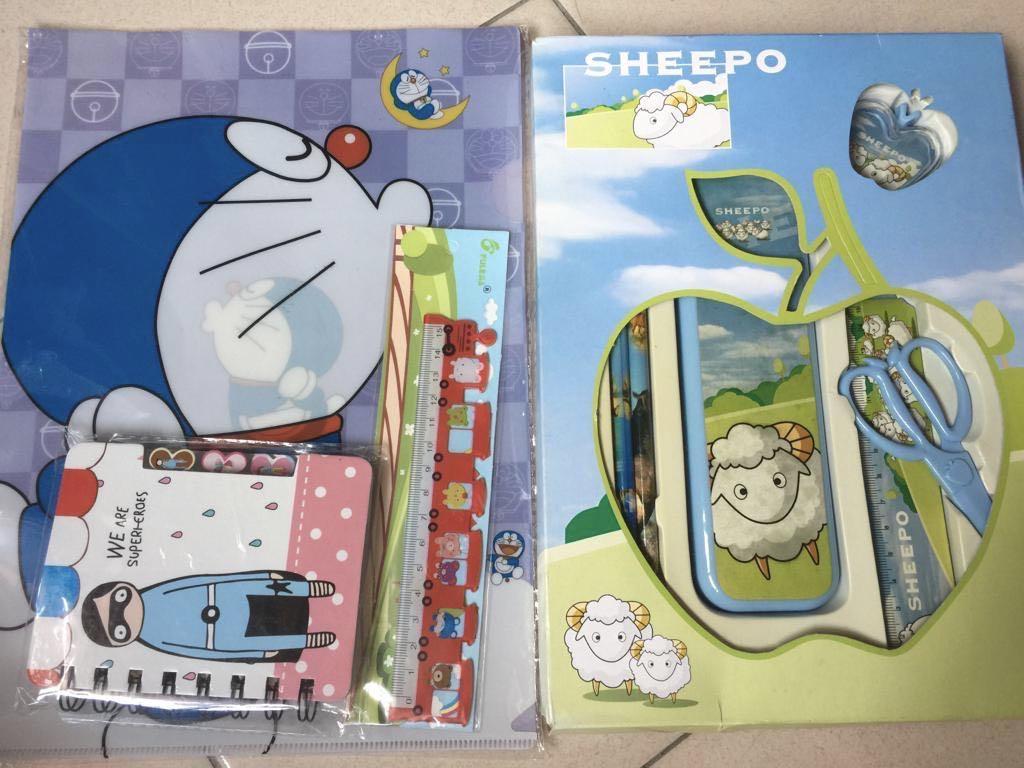 Doraemon Clear folder+1 notebook +1 ruler + 1 pencil sets