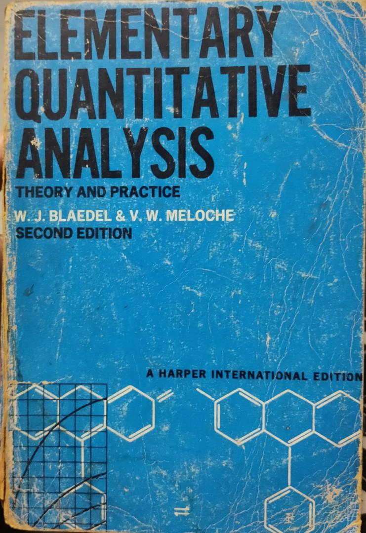 Elementary Qualitative Analysis Theory & Practice by Blaedel & Meloche, 2nd Ed.