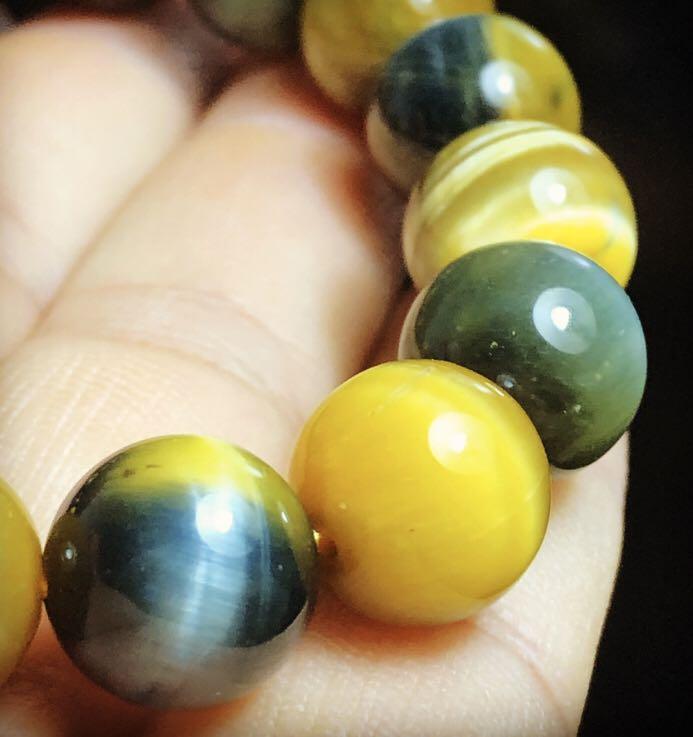Fantasy Tiger Eyes Crystal Quartz AA Bracelet 12mm - Gelang Kristal Batu Mata Harimau