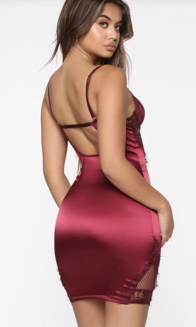 Fashion Nova - Red Lace Dress