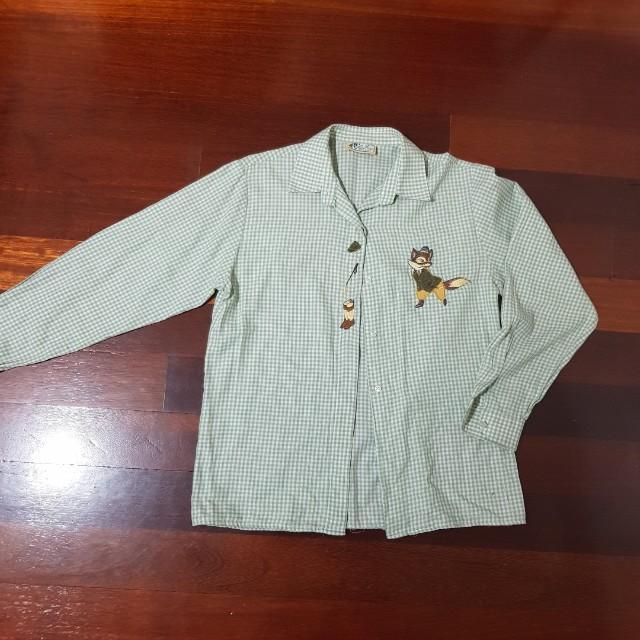 Fox embroidered shirt