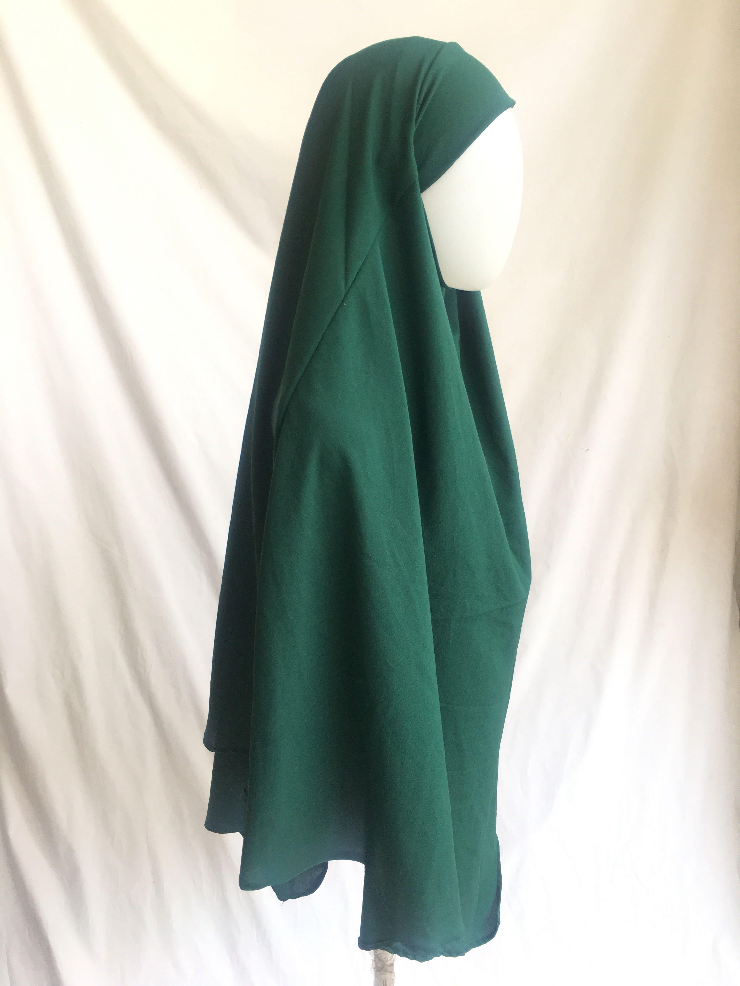 French Khimar Emerald green