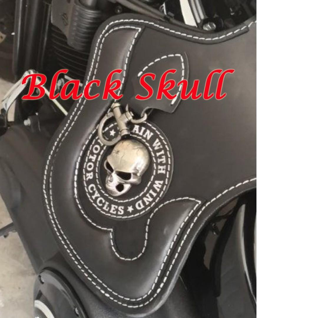 Harley motorcycle leather heat shield