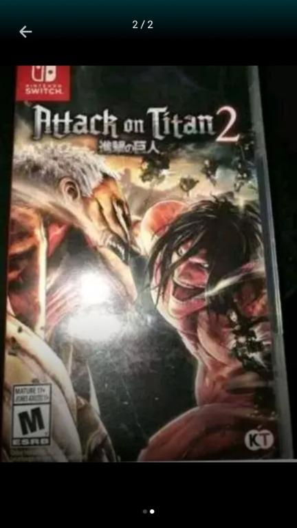Jual Murah Nintendo Switch Game - Attack on Titan 2