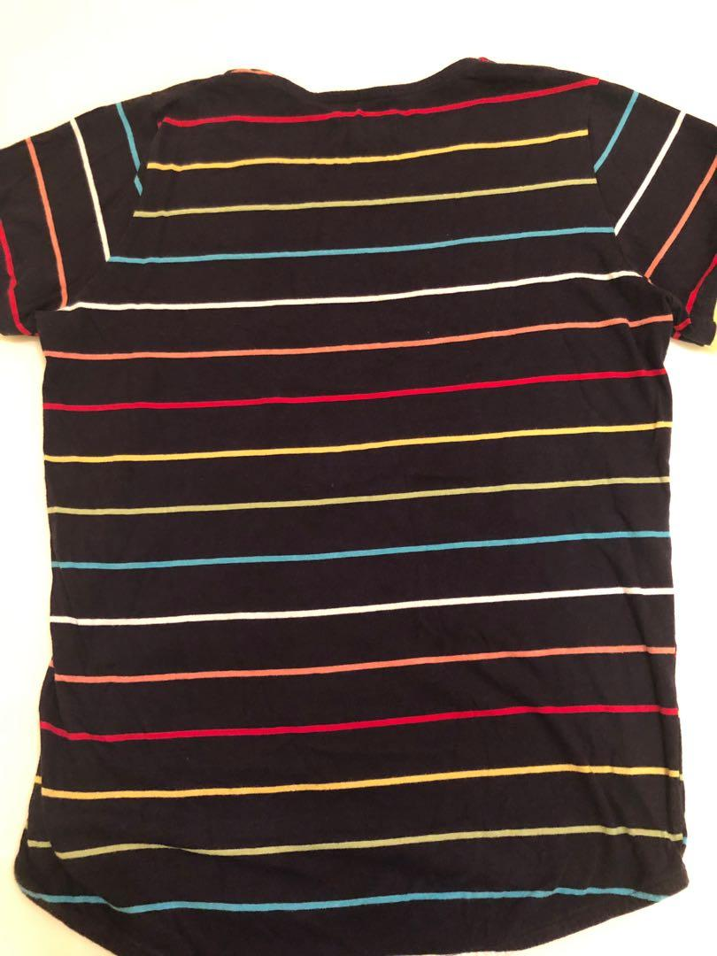 Korea colour stripes tee 韓國彩色間條T shirt