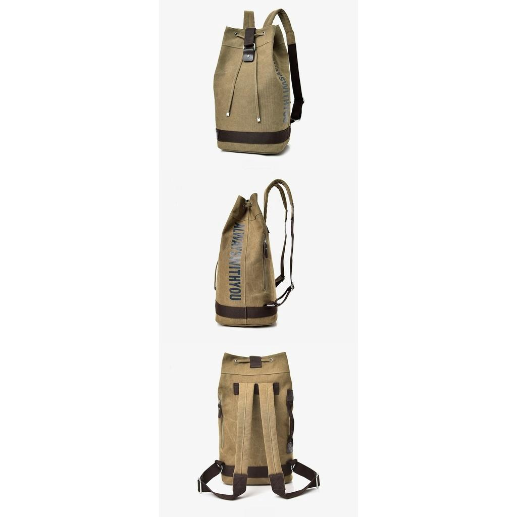Le Voue Multi Ways Carry Canvas Bucket Backpack M55