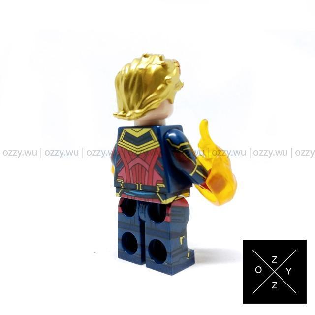 Lego Compatible Marvel Minifigures : Captain Marvel (Short Hair)