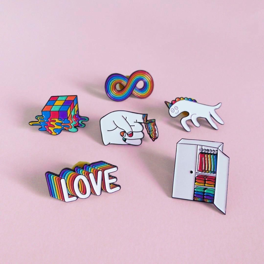 "LGBT gay pride ""The gay agenda"" soft enamel pin"