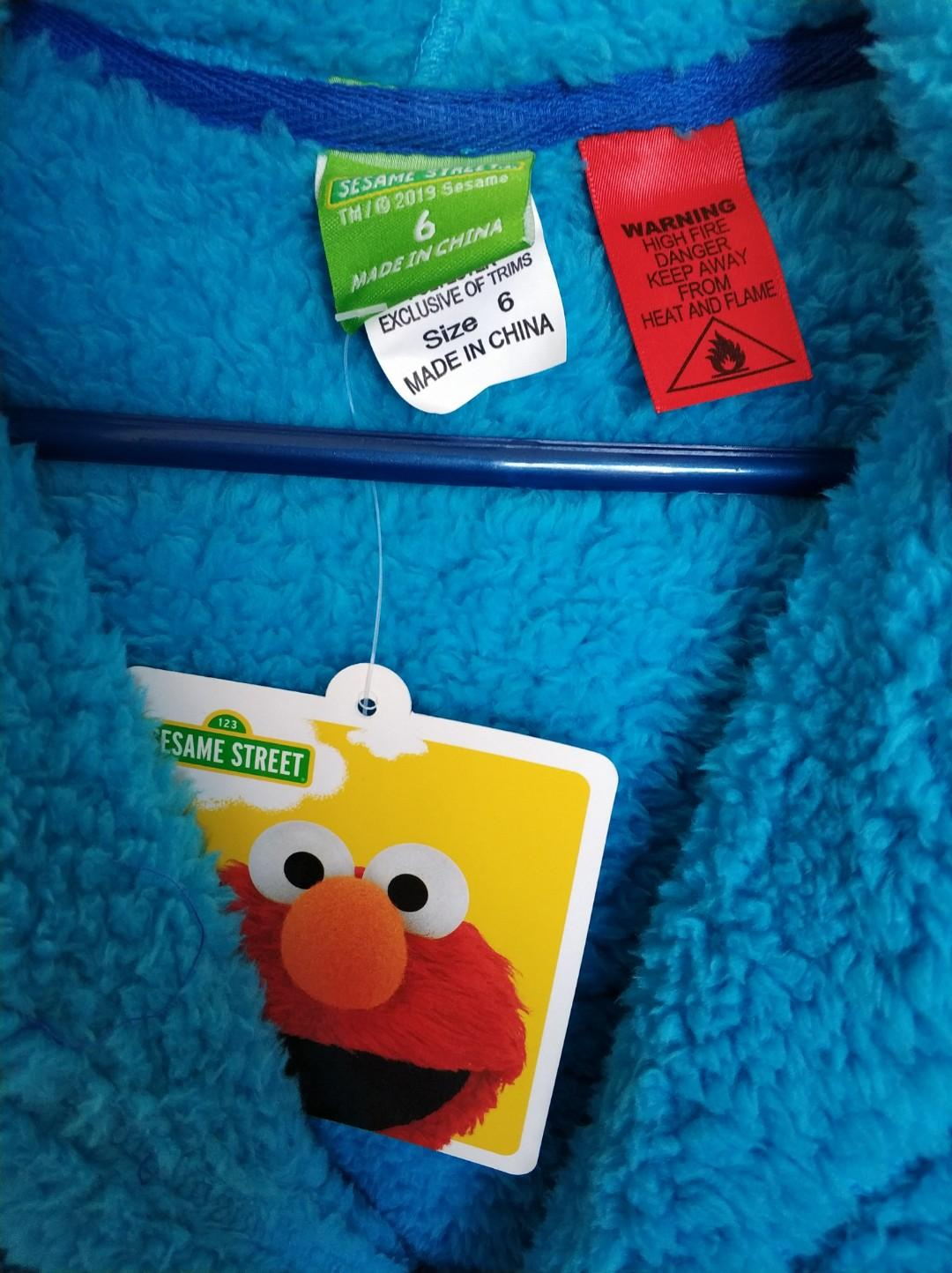 New Sesame Street Cookie Monster Gown - Size 2 and 6