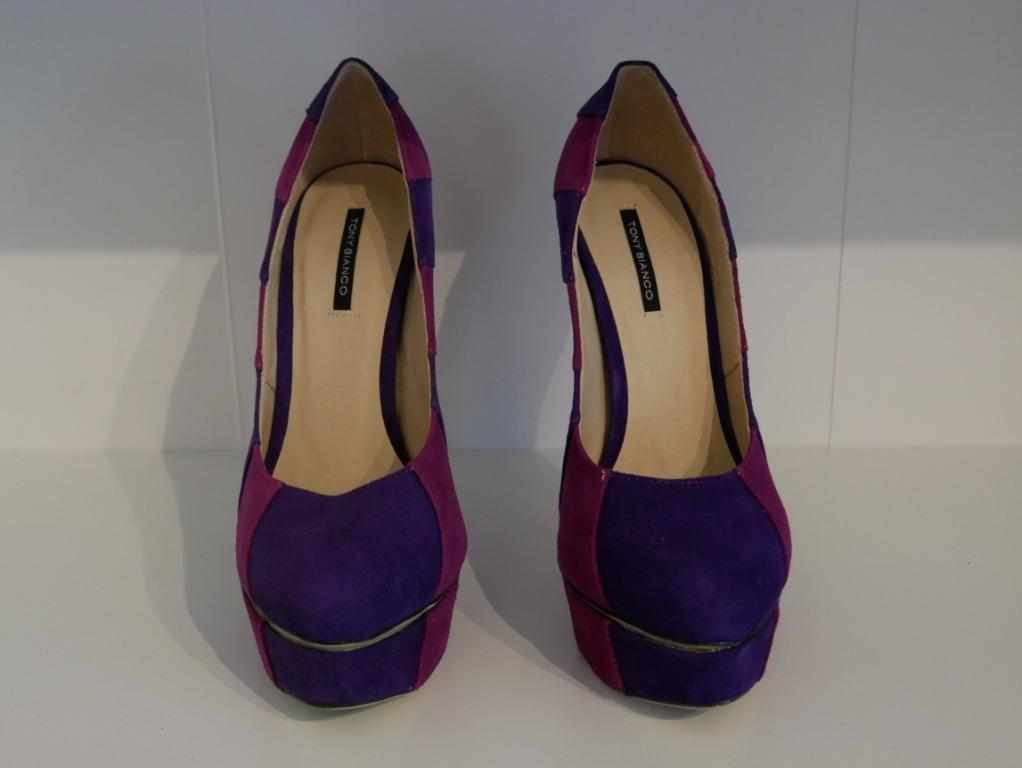 New Tony Bianco Wedge Pumps Magenta/Purple Size 7.5