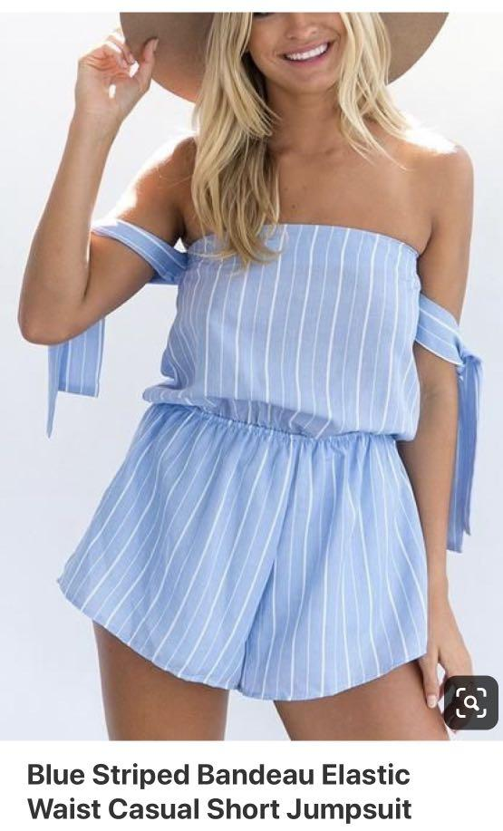 Playsuit, straps can be worn multiple ways, size is small 8-10