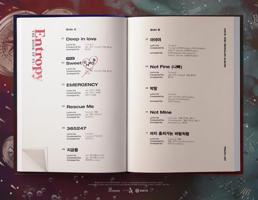 [Pre-Order] DAY 6 - Album Vol.3 (The Book of Us : Entropy)