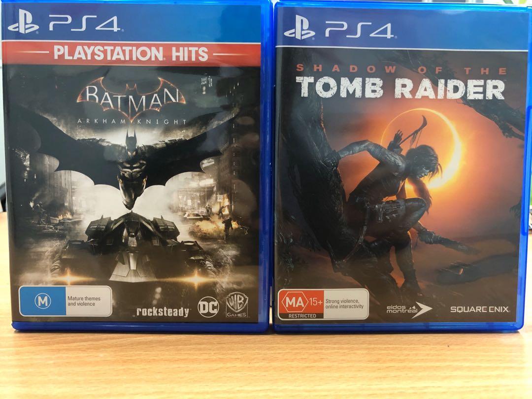 PS4 Shadow of Tomb Raider and Batman Arkham Knight