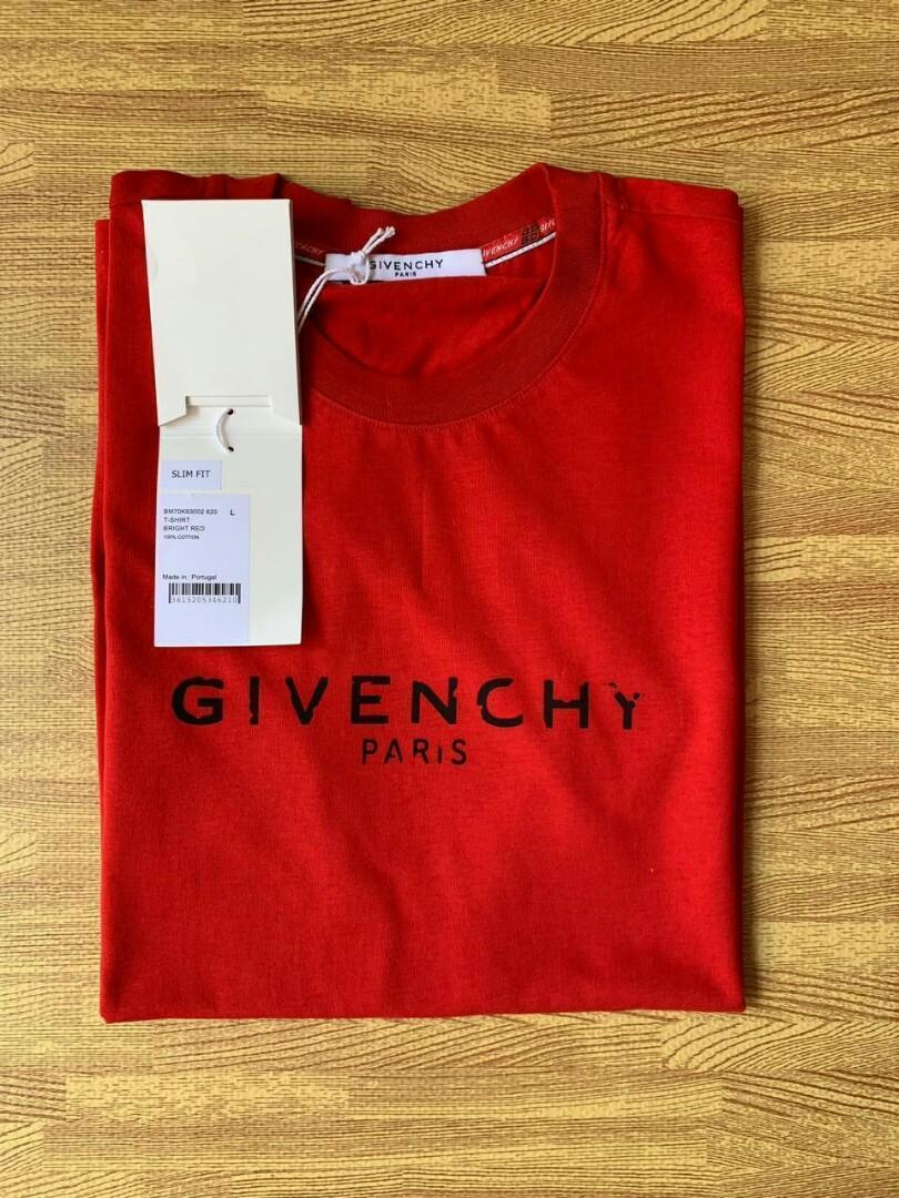 Ready Givenchy T shirt red slim fit avb sz : M (3 pc) & XL (2 pc)