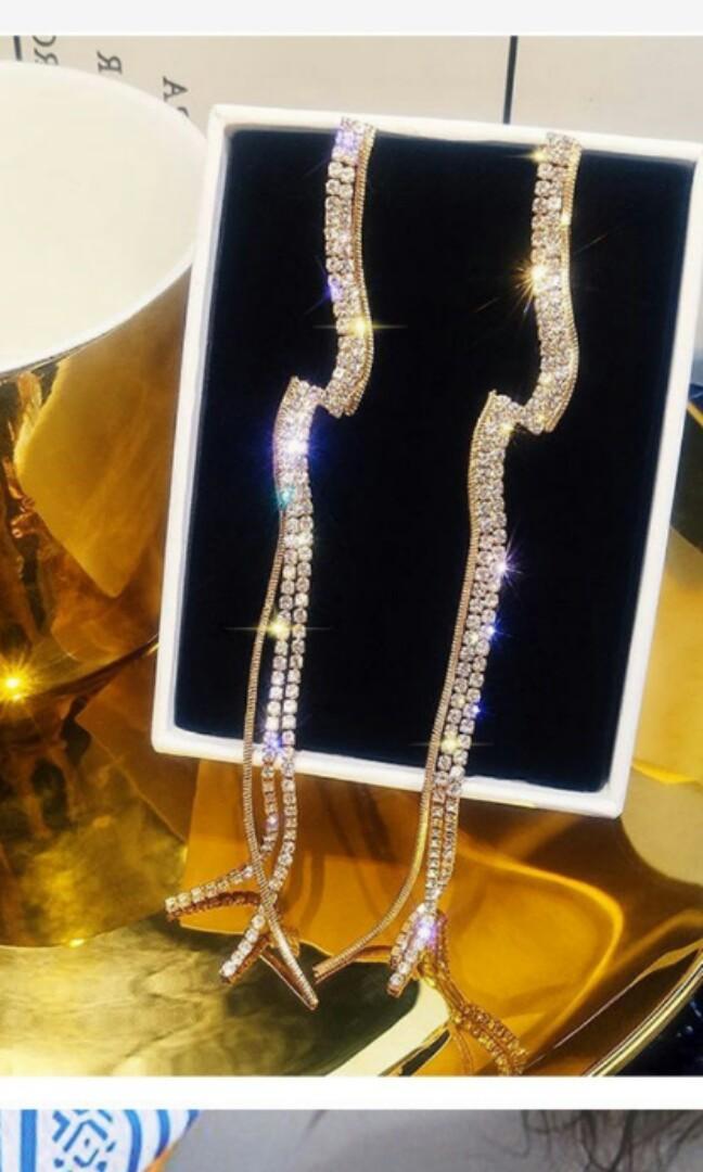 Readystock antingpanjang earrings gaun dress tas liptint lipblam aksesoris topi kacamata flatshoes accessories