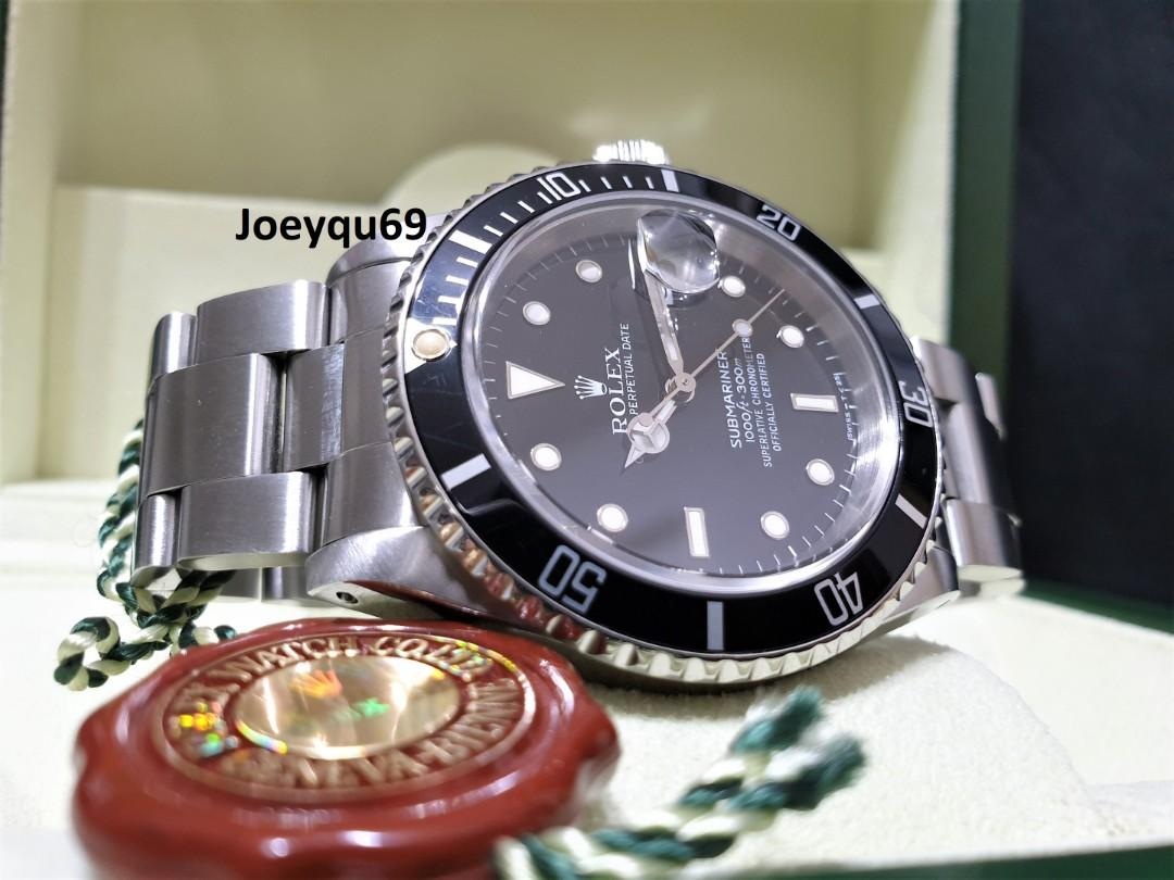 ROLEX Submariner Date (Tritium dial/Hands) 16610LN Auto Collectible
