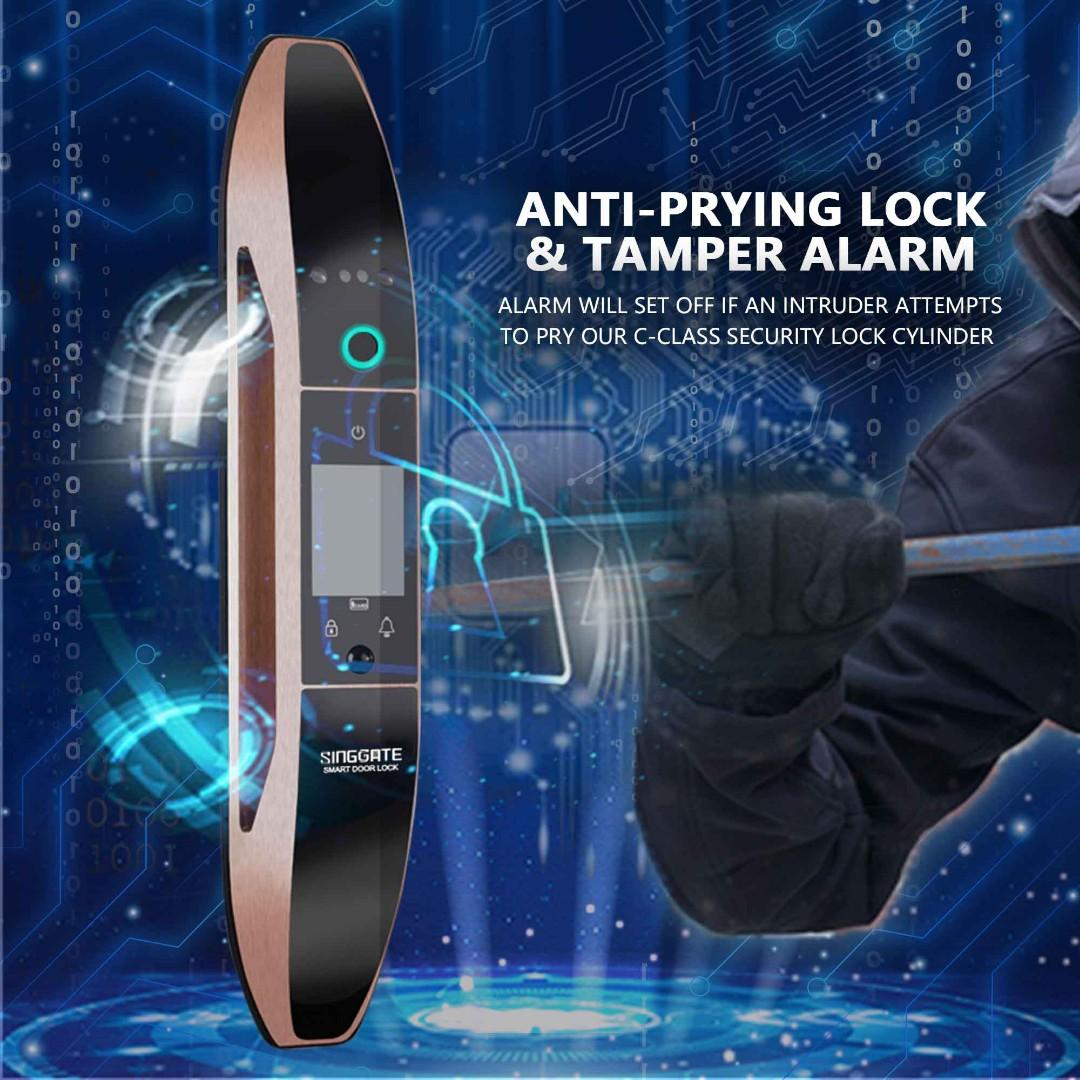 SINGGATE™ FA002  [υpgraded verѕιon] DIGITAL DOOR LOCK WITH FACE RECOGNITION