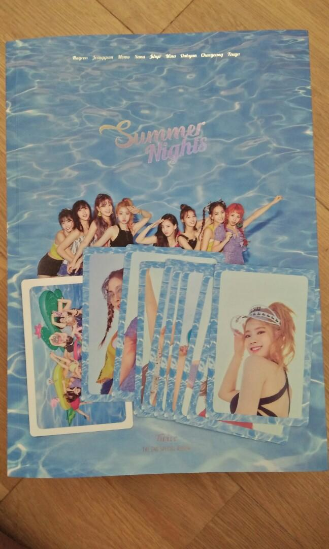 Twice Summer Nights album ver B with album cards and lyric poster as well 😍😍